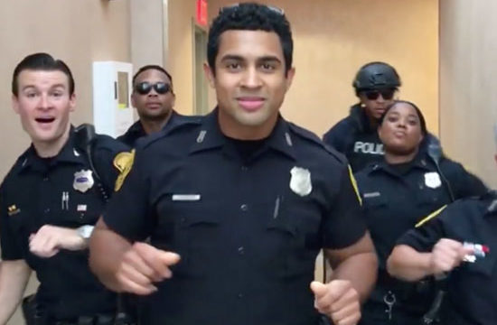 Police release amazing 'Uptown Funk' lip sync video