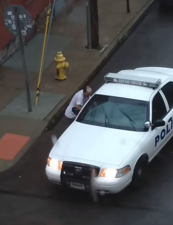 What seems to be the problem, officer? Credit: YouTube