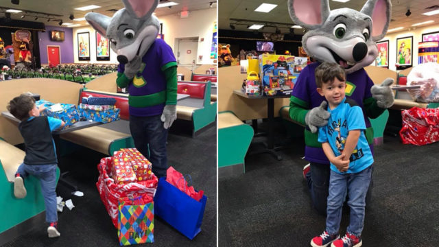 Chuck-E Cheese employees buy presents for kid after no one shows up to his birthday party