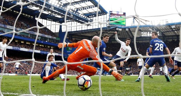 Dele scores against Chelsea. Credit: Peter Nicholls/Reuters