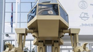Russian arms firm Kalashnikov unveils 13ft walking soldier robot