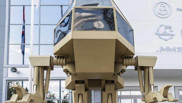 Russian arms firm Kalashnikov unveils 13ft walking soldier robot