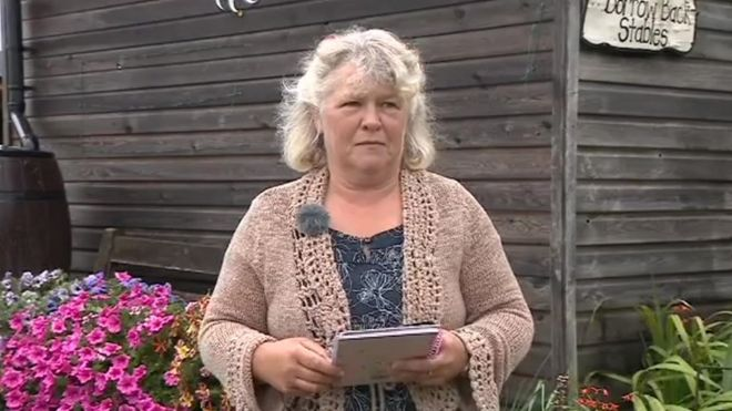 The poet herself. Credit: BBC