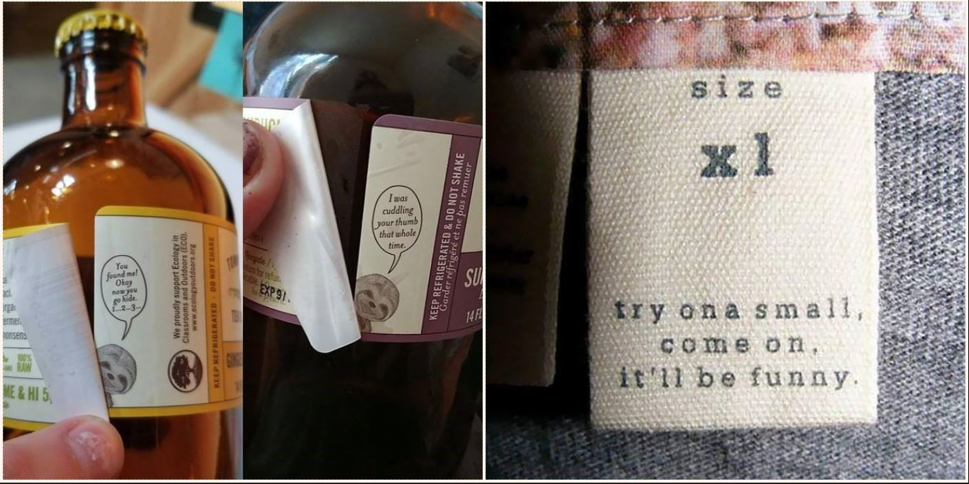 These hidden messages on common products are bloody awesome