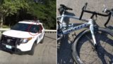 Cop busy texting on his phone drives his car straight into a cyclist