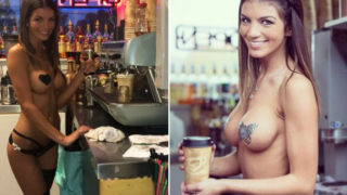These baristas serve coffee in nothing but skimpy bikinis