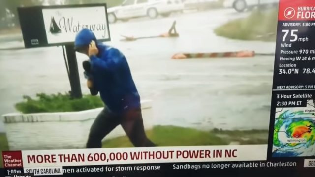 Weatherman Busted Faking The Winds From Florence