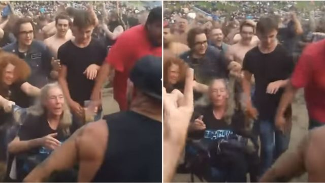 Elderly Slayer Fan Experiences First Mosh Pit – From Her Wheelchair!