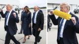 Trump's double fist-pump has become a photoshopped meme