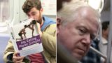 Guy takes fake book covers onto the train to see how people react