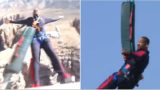 A sh*tscared Will Smith bungee jumps from a helicopter to celebrate 50th birthday