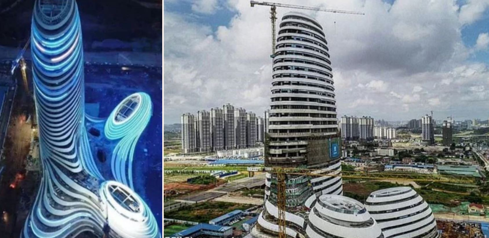 """China erects """"dick"""" building that shoots fireworks from its tip"""