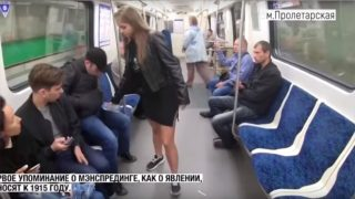 Viral video of feminist pouring bleach on manspreaders debunked as Russian propaganda