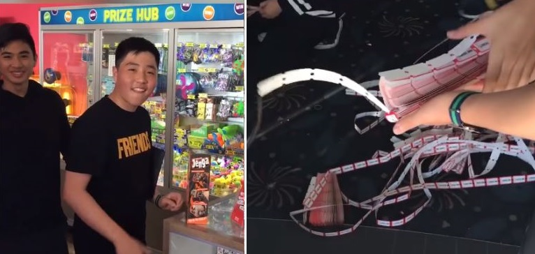 Blokes hack arcade game to get sh*tload of tickets