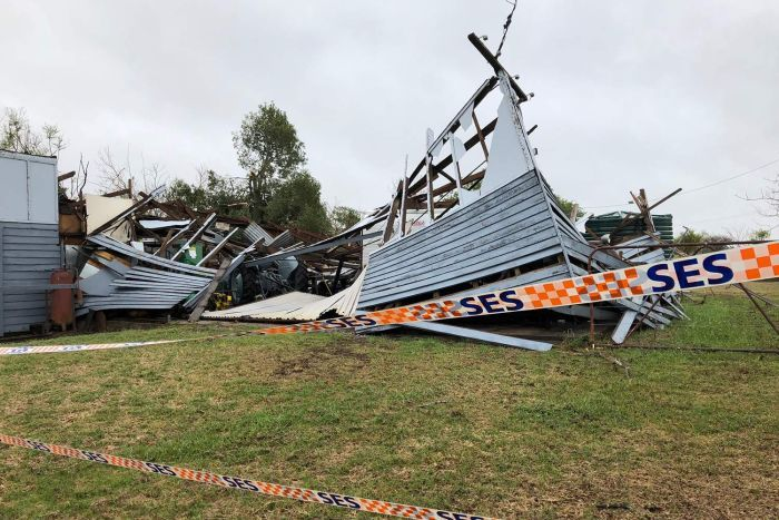 The storm f**ked up property too. Credit: ABC News/Bruce Atkinson