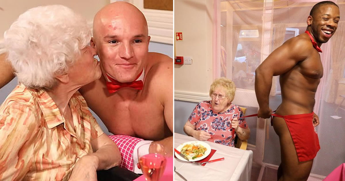Nursing Home Hires Sexy Butlers As A Treat For The Old Birds
