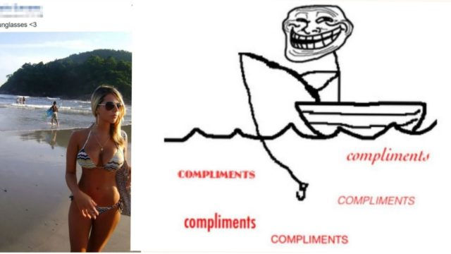 When people fishing for compliments get what they deserve