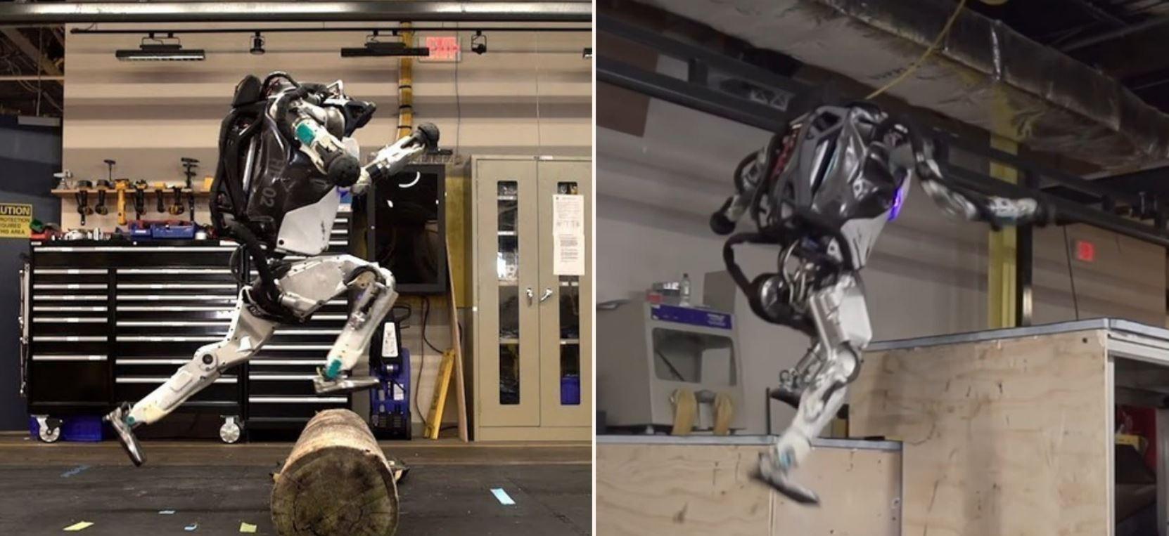 Boston Dynamics' Atlas robot shows off f*cken parkour skills