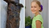 8 year old girl pulls a 1,500-year-old sword from a lake in Sweden