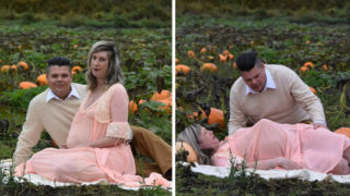 Check out this awesome couple's alien chest-burster maternity shoot