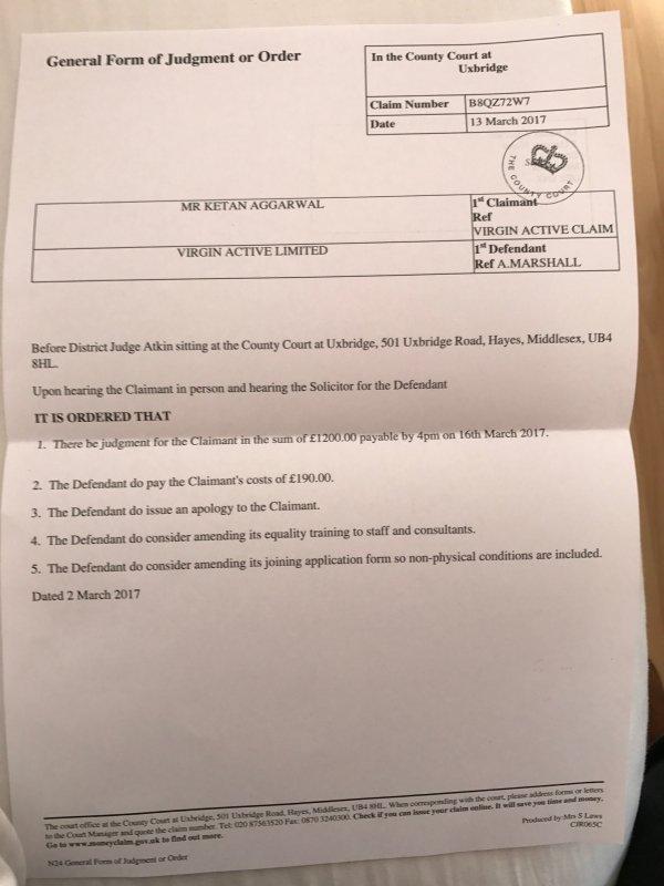 The court orders: Ketan Aggarwal