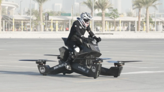 Dubai police have started using giant drone looking hoverbikes