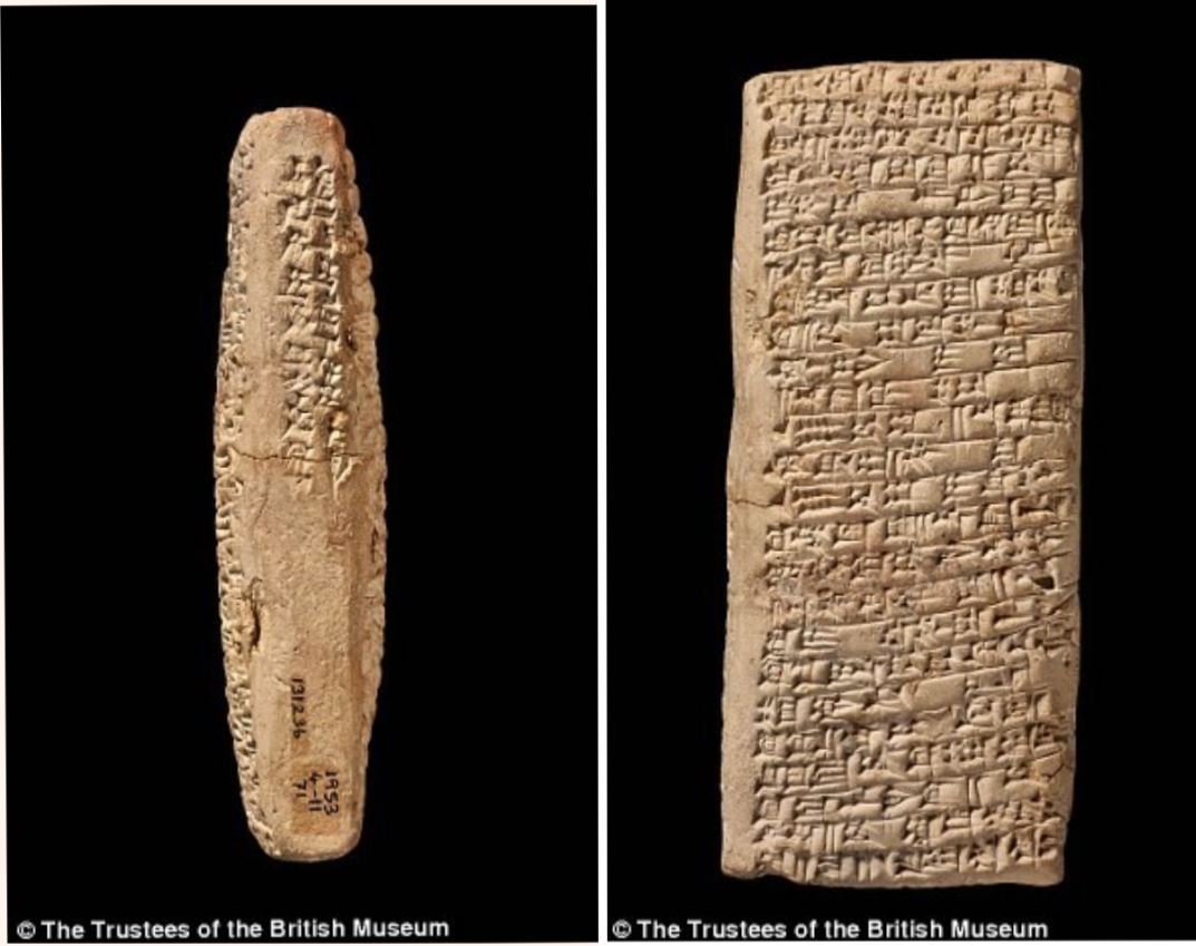 The tablet is about Credit: The trustees of the British Museum