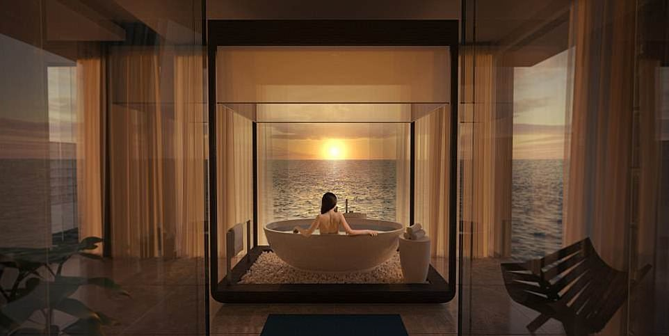 The bath. Wonder if it has mildew? Credit: Conrad Maldives Rangali