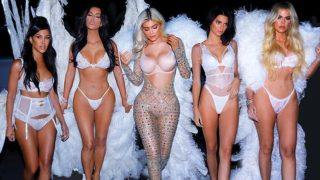The Kardashian sisters went as f*cken Victorian Secret models to Halloween