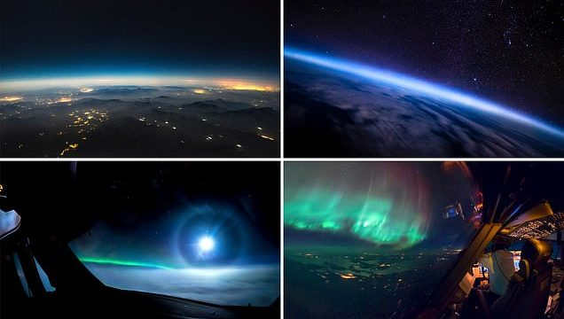 Jumbo jet pilot shares incredible pictures that he's taken from the cockpit