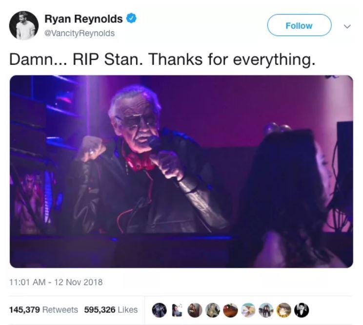 Credit: Twitter/Ryan Reynolds
