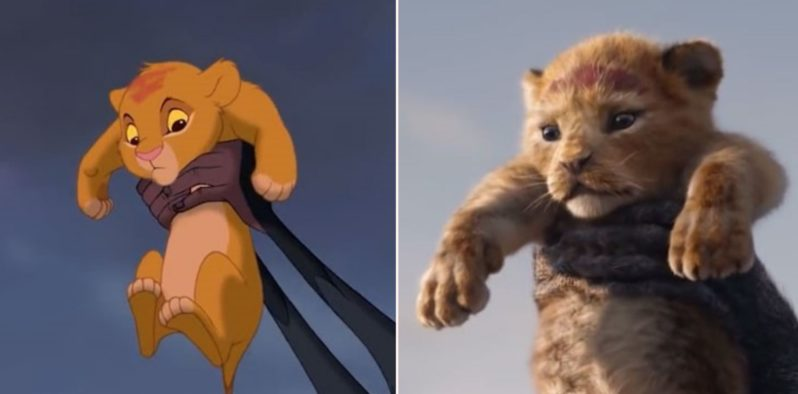 Somebody has compared The Lion King 2019 to the 1994 animation side by side