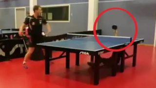 """Insane"": return shot goes viral, divides the table tennis community"