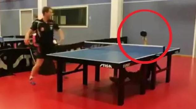 """Insane"": return shot goes viral, divides the table tennis community"