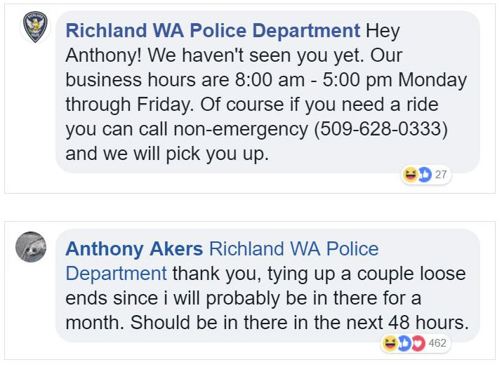 Credit: Facebook/Anthony Akers/Richland WA Police Department