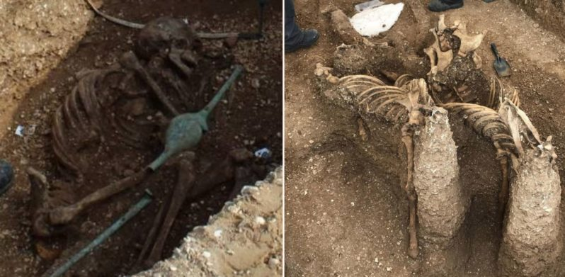 Archaeologists uncover 'Vampire Skeleton' in UK burial site