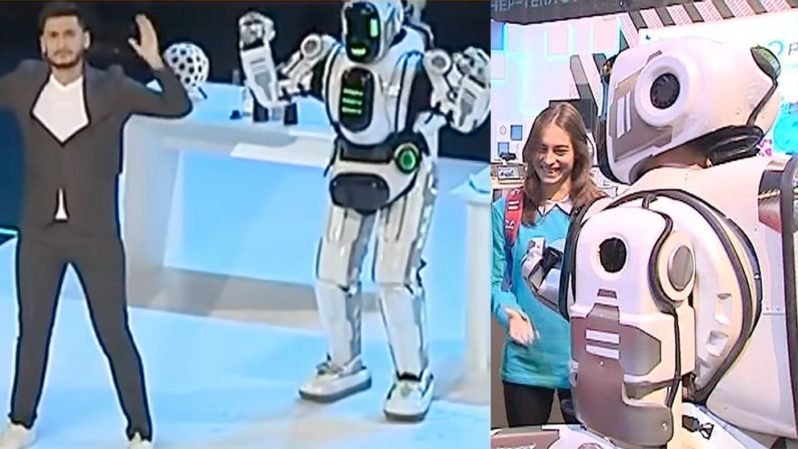 Russian TV shows off 'robot' that's actually a man in a robot suit