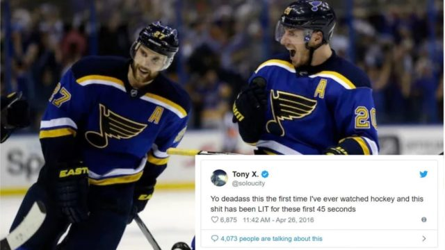 Bloke who accidentally discovers Hockey on TV for the first time goes viral with his comments