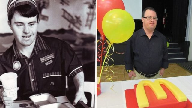 Inspirational Maccas worker with down syndrome retires after 32 years on the job