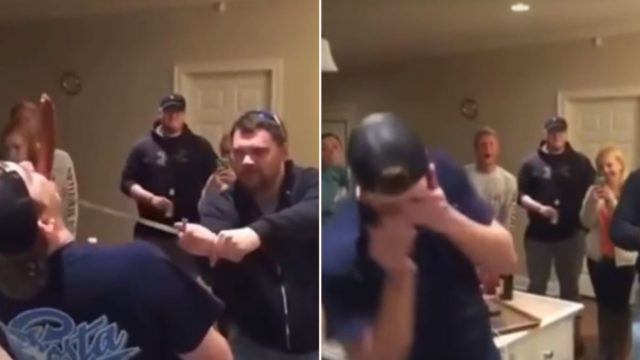 "Drunk bloke lets ""ninja"" slice sausage in his mouth with sword, backfires terribly"