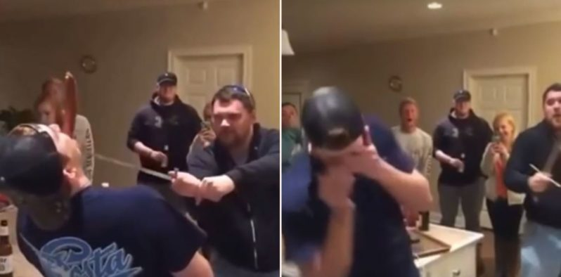 """Drunk bloke lets """"ninja"""" slice sausage in his mouth with sword, backfires terribly"""