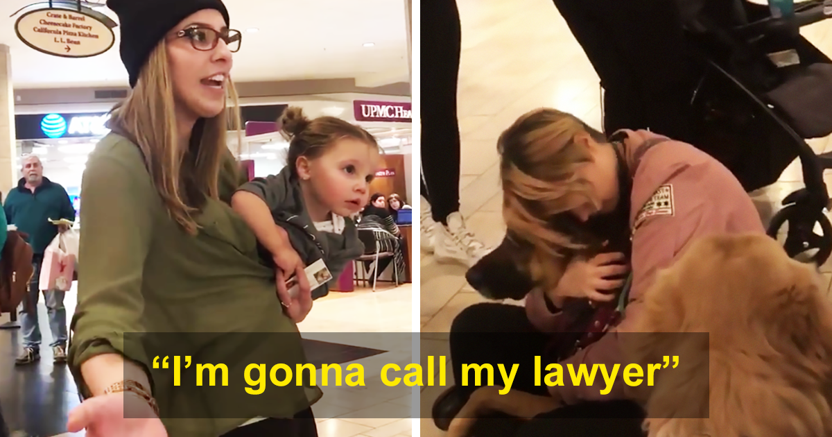 Self-entitled sheila asks if daughter can pat service dogs, can't take no for an answer
