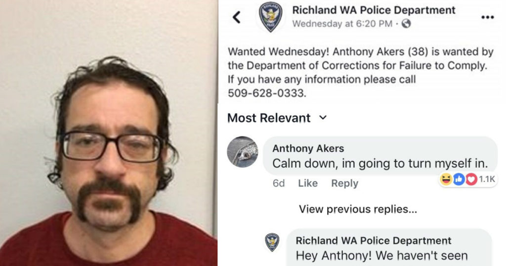 Bloke responds to his own Police wanted post on Facebook and it's f*cken gold