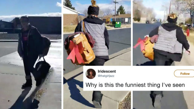 Hero Mum chases down package thief and gets her package back