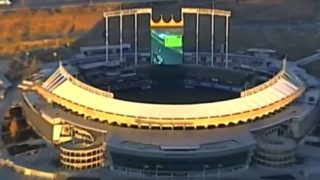 News Chopper catches stadium staff playing Mario Kart on the scoreboard
