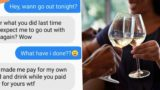 Sheila loses her sh*t after bloke refuses to pay for her lobster dinner and $130 bottle of wine