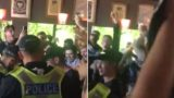 Ozzy soccer fans dance with cops after failed flare search