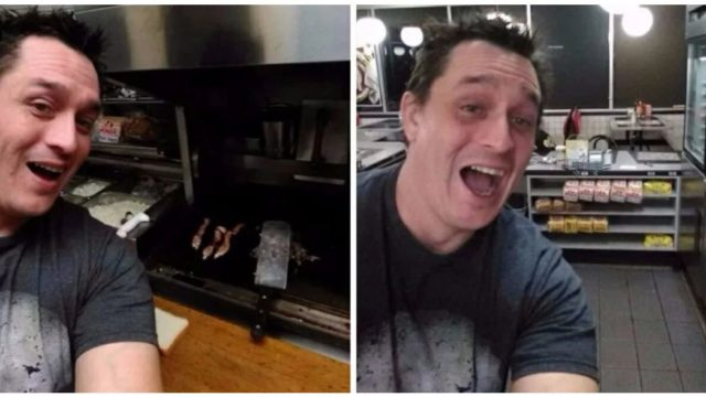 Drunk bloke cooks his own feed at The Waffle House after finding staff asleep
