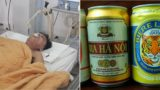 Bloke has 15 beers pumped into his stomach in order to save his life
