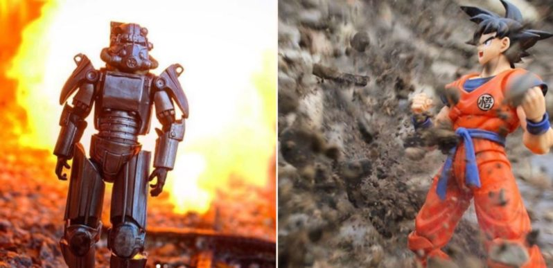 This toy photographer uses explosions to take awesome shots of action figurines